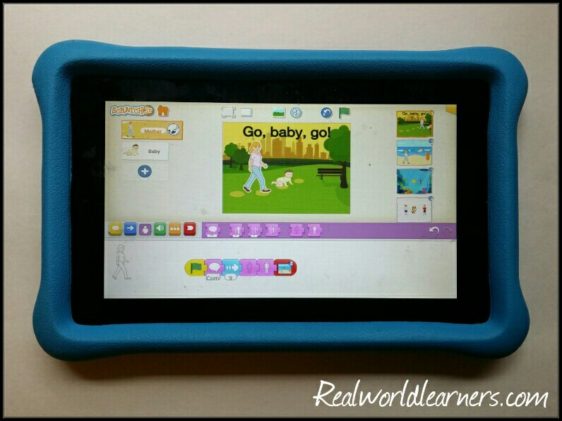 coding for kids using Scratch Jr