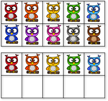 15 owls in ten frames